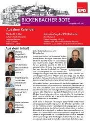 BICKENBACHER BOTE