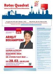 Ausgabe Nr. 8 für die 8. Woche / 2013 Mannheim, den 18. Februar ...