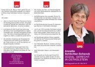 Annette Schlichter-Schenck SOZIAL. GERECHT. IN OSTHOLSTEIN.