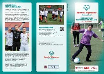 Flyer - Special Olympics Deutschland