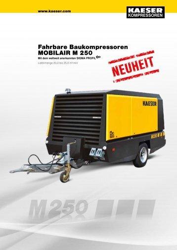 Fahrbare Baukompressoren MOBILAIR M 250 - image.erento.com