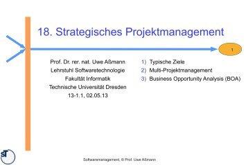 18. Strategisches Projektmanagement - Lehrstuhl Softwaretechnologie