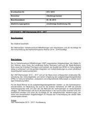 VMT-Rahmenplan 2013 - Stadt Weimar