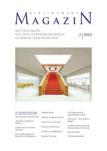 Bibliotheks Magazin 2013-02 - Staatsbibliothek zu Berlin