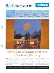 Rathauskurier 22 2013 - Stadt Weimar