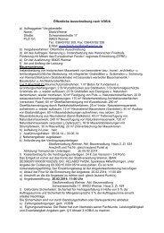 Öffentliche Ausschreibung nach VOB/A - Stadt Weimar