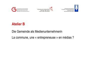 Referat von Franziska Edelmann, Gemeinde Reinach (BL)