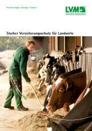 Starker Versicherungsschutz für Landwirte - LVM Versicherung