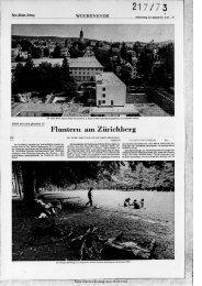 t Fluntern am Zürichberg - Neue Zürcher Zeitung