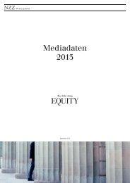 Mediadaten 2013 - NZZ Werbung