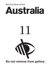 Australia LOW 11.indd - Royal Academy of Arts
