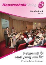 Haustechnikdialog Sonderdruck - Consoft Gmbh