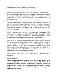 Betrifft: Margensysteme und deren Auswirkungen: Seitens ... - Wuapaa