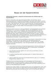 Neues von der Kassenrichtlinie - Wuapaa
