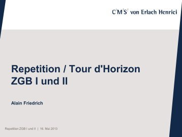ZGB I und II Draft 2 - studunilu.ch