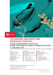 Symposium Agenda - The University of Sydney