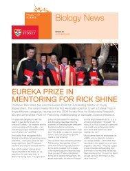 Biology Newsletter - The University of Sydney