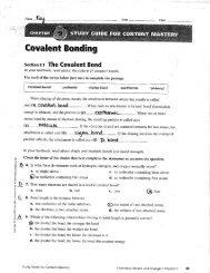 "seats"" 9.1. The Covalent Bond - TeacherWeb"