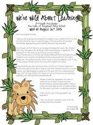 Week of August 26th - TeacherWeb