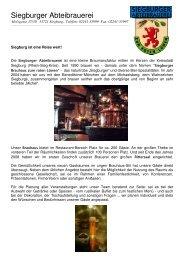 erhalten Sie alle weiteren Informationen zur Siegburger Abteibrauerei.