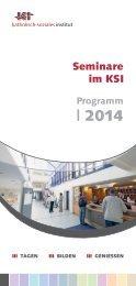 Seminare im KSI Programm 2014 - Tagungshäuser des Erzbistums ...