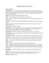 English 3201 Media and Visual Terms MEDIA ... - TeacherWeb