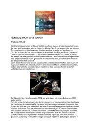 Neufassung Z-PLAN bereit (CN/AZP) Erlebnis Z ... - Terra - Germania