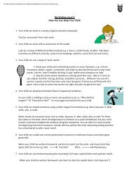 Big Writing Level 3 How You Can Help Your Child - TeacherWeb