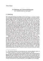 Tilman Berger Zu Bedeutung und Gebrauchsbedingungen der ...