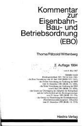 Kommentar zur Eisenbahn- Bau- und Betriebsordnung (EBO)