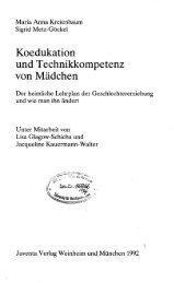 Koedukation und Technikkompetenz von Mädchen - Technische ...