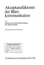 Akzeptanzfaktoren der Büro - kommunikation