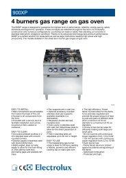 4 burners gas range on gas oven - Electrolux