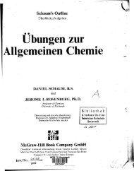 Übungen zur Allgemeinen Chemie DANIEL SCHAUM, BS