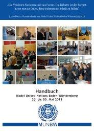 Handbuch - Deutsche Model United Nations eV