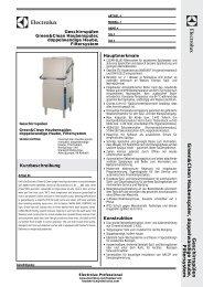 Green&Clean; Haubenspüler, doppelwandige Haube ... - Electrolux