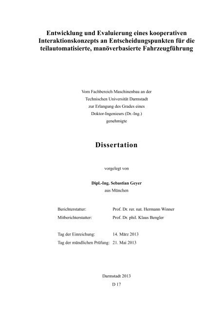 Download - tuprints - Technische Universität Darmstadt