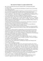Das Leben des Thomas von Aquin (1224/25-1274) - UK-Online