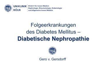 Kompetenzfeld Diabetes mellitus II - UK-Online