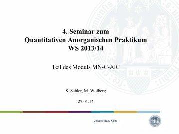 Seminar 4 - Universität zu Köln