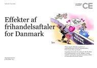 Effekter af frihandelsaftaler for Danmark - Udenrigsministeriet