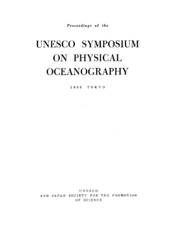 Proceedings of the UNESCO Symposium on Physical ... - unesdoc