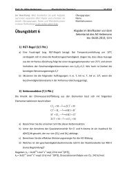 Physikalische Chemie I, P