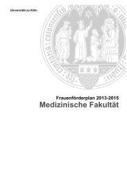 Med-Fakultät - Verwaltung - Universität zu Köln