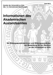 Informationen des Akademischen Auslandsamtes - Verwaltung