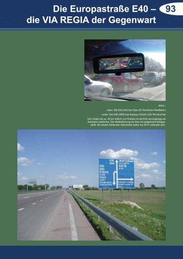 93 Die Europastraße E40 – die VIA REGIA der Gegenwart