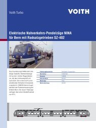 Elektrische Nahverkehrs-Pendelzüge NINA für Bern mit ... - Voith