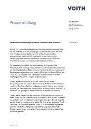 Sepac investiert in energiesparende Tissuemaschine von Voith ...
