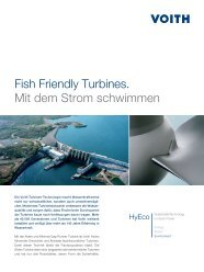 Fish Friendly Turbines. Mit dem Strom schwimmen - Voith