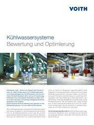 Kühlwassersysteme Bewertung und Optimierung - Voith